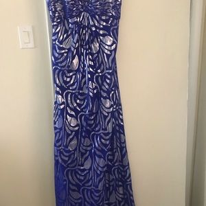 Beaded Designed Prom or Evening Gown.